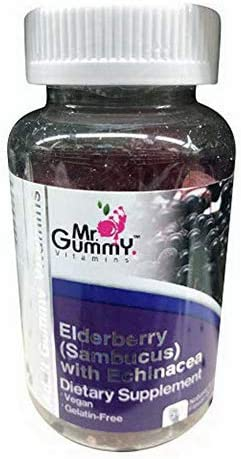 Windmill Mr. Gummy Elderberry with Echinacea – Raspberry Flavor 60 Ea, 60.0 Count