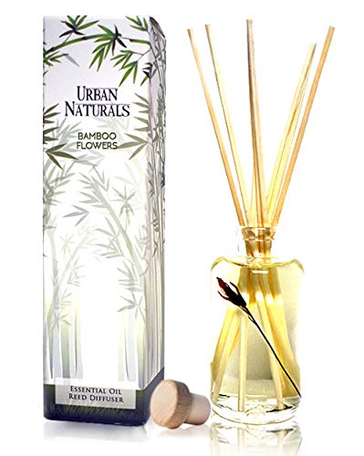Urban Naturals Bamboo Home Fragrance Oil Reed Diffuser with Sticks | Fresh Bamboo, Black Musk, Japanese Cypress | Convenient Scented Air Freshener & Room Infuser | Home Gift Idea. Vegan. ()