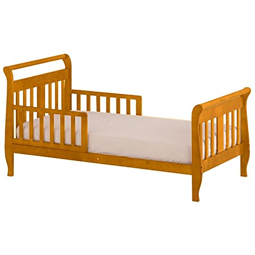 Wood Oak Kids Beds - Angel Line Sleigh Toddler Bed 6198S - Oak