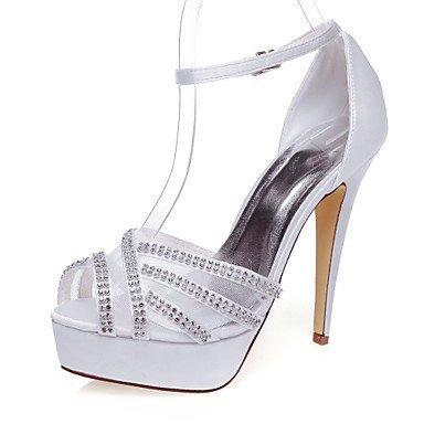 La Mujer Tacones Zapatos De Boda / Plataforma Tacones Vestidos Boda / Blanco / Marfil 5En &Amp; Sobre Blanco White