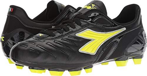 Diadora Men's Maracana 18 MD Molded Soccer Shoes (8.5 D(M) US Men's, Black/Fluo Yellow)