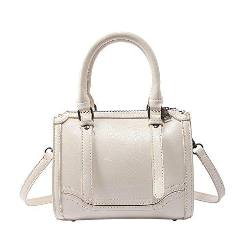 GWQGZ Big Tote Bag 2018 New Quality Soft Pu Leather Women'S Designer Handbag Portable Boston Bag Shoulder Messenger (Suede Boston Bag)