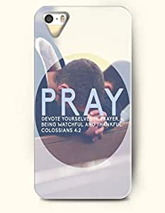 iPhone 4 4S Case OOFIT Phone Hard Case **NEW** Case with Design Pray Devote Yourselves In Prayer. Being Watchful And Thankful Colossians 4:2- Bible Verses - Case for Apple iPhone 4/4s