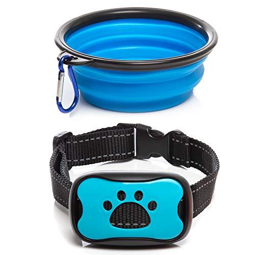 Collar Bowl - Humane No Shock Anti Bark Training Collar Plus A Free Collapsible Dog Bowl