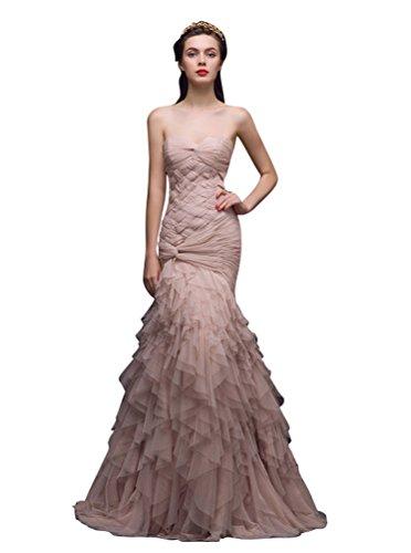 Beige Frills Beauty Strapless Frills Beauty Dresses Sleeveless Emily Evening Sweetheart Emily RwFdvnZxqR