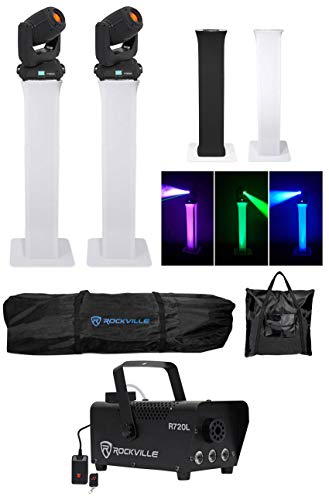 2) Chauvet DJ Intimidator Spot 375Z IRC Moving Heads+2) Totem ()