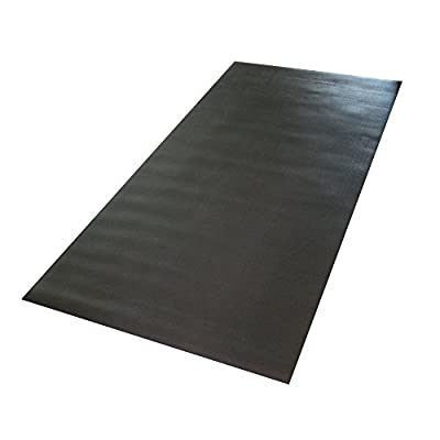 Confidence Fitness Rubber Mat for Treadmills and Other Gym Equipment - 6.6ft x 3.3ft
