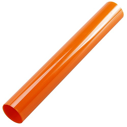 HOHO 60in16.5ft Orange Color Solar Window Self-adhensive Colored Film Glass Decorations - Colors Tint Glasses