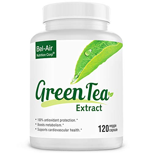 (Bel-Air Green Tea Extract Supplement with standardized 50% EGCG, 80% Catechins & 98% Polyphenols)