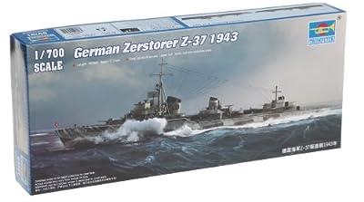 Trumpeter 1/700 German Zerstorer Z37 Destroyer 1943 Model Kit