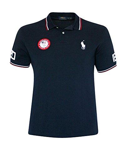 Polo Ralph Lauren Men's Classic Fit pony cotton Shirt OLYMPIC TEAM Top NAVY (XL)