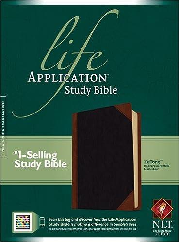 Engelsk bøger download gratis Life Application Study Bible NLT, TuTone MOBI