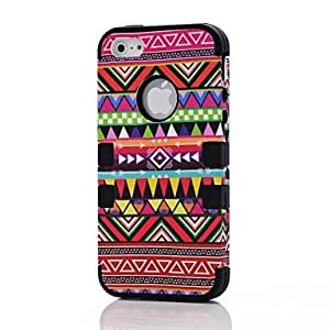 RC - 2 in 1 Tribal Style PC and Silicone Composite Case for iPhone 4/4S(Assorted Colors) , Pink
