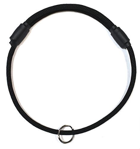 Thin Mountain Rope Dog ID Collar - Black -Medium size - The Original