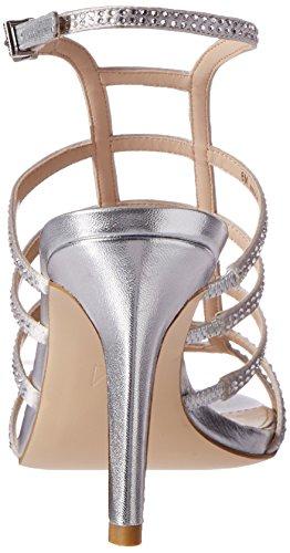 Sandal Moda Nell2 Silver Women's dress SL Pelle 8F7vwxx
