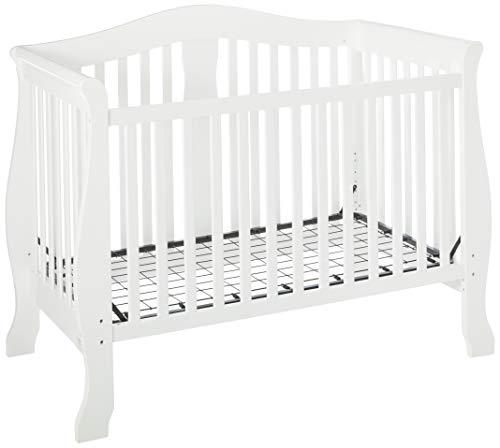 LA Baby Avalon 4 in 1 Convertible Crib, White