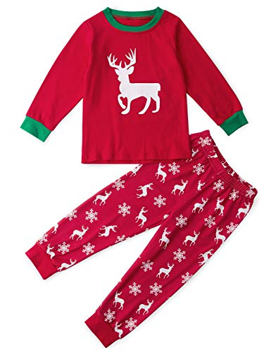 Funnycokid Christmas Boys Girls Pajamas Set Kids Xmas Sleepwear Jammies PJs 2-9Y
