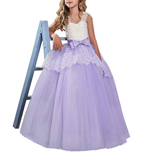 لباس عروسی گل دخترانه NNJXD لباس توری شاهزاده خانم توری لباس پیراهن لباس
