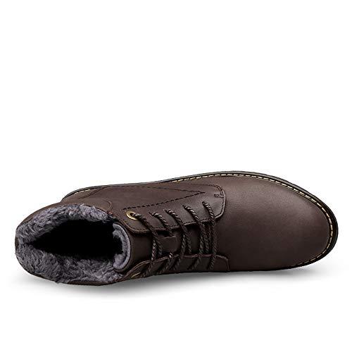 Hilotu Pour Work Oxford Bottes 45 À Brown Chaussures Chukka Botte color Lacets Warm Habillées Taille Combat Brown Hommes Hunter Eu rztqxr5Xw