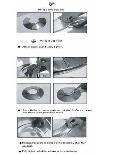 FIREPLACE CLASSIC PARTS Patio Heater Hiland Heat Reflector Shield (3 Hole Mount) Most Common FCPTHP-Shield 3HOLE