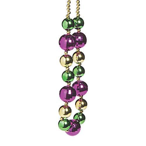 Fun Express - Jumbo Mardi Gras Beads for Mardi Gras - Jewelry - Mardi Gras Beads - Misc Mardi Gras Beads - Mardi Gras - 1 Piece -