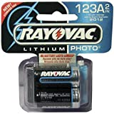 Rayovac 3.0-Volt Lithium Photo Batteries, 123A Size, 2-Count Packages (Pack of 2)