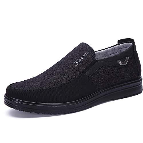 39 Negro de Hombres deslizantes Hombres los Qiusa tamaño Alpargatas la EU los Tela Color Ocasionales Viejos Suela para no Zapatos Grandes cómodos de Pekín de de Blanda wgqFYv