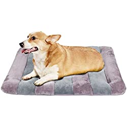 JoicyCo Dog Bed 36 inch Crate Pad Dog Mat 100% Washable Anti-Slip Kennel Matress Pads