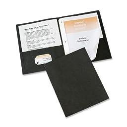 Avery Two-Pocket Folders, Black, Pack of 25 (47978)