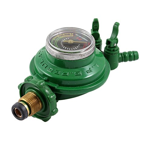 Uxcell Houseware 1 Inlet 2 Outlet LGP Compressed Gas Pressure Regulator (Gas Inlet)