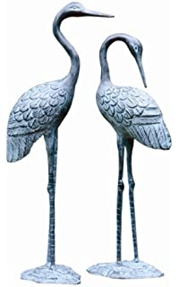 Pair Of Garden Cranes (Brass Love Cranes)