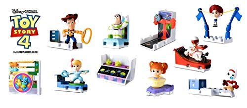 McDonald's 2019 Toy Story 4 - Complete Set of 10 + 12 Stickers (Best 1 Year Old Toys 2019)
