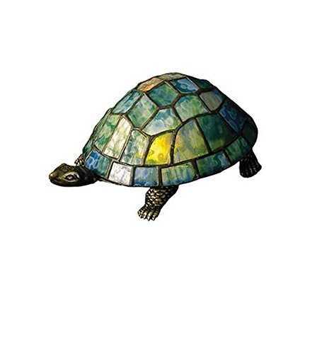 Meyda Tiffany 10270 Turtle Tiffany Glass Accent Lamp, 4