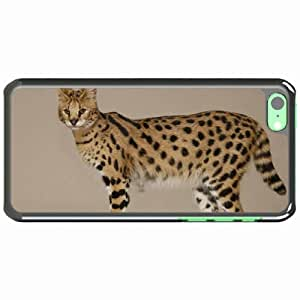 iPhone 5C Black Hardshell Case savannah female spotted large Desin Images Protector Back Cover