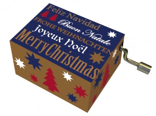Fridolin 58322 Merry Christmas/Golden Merry Christmas Music Box with Gold Imprint