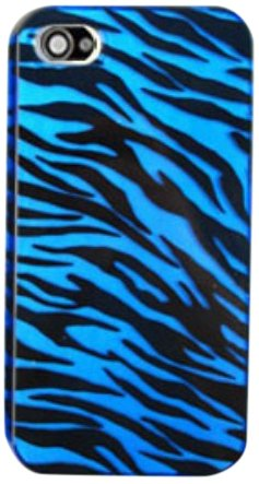Buy iphone 4 s case blue zebra