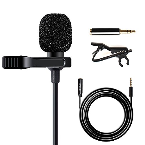 Maono AU-403 Lavalier Microphone with 20ft Extension Cable Lapel Mic Handsfree Clip-on for iPhone, Android, Smartphone, DSLR Camera, Voice Amplifie, PC, Laptop, Wireless Transmitter, Youtube Podcast (Port Lav)