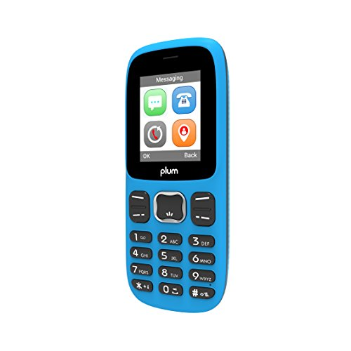 Plum Star Unlocked GSM Dual Sim Feature Cell Phone Camera Bluetooth Flashlight FM Radio MP3 SD Card Slot - Blue