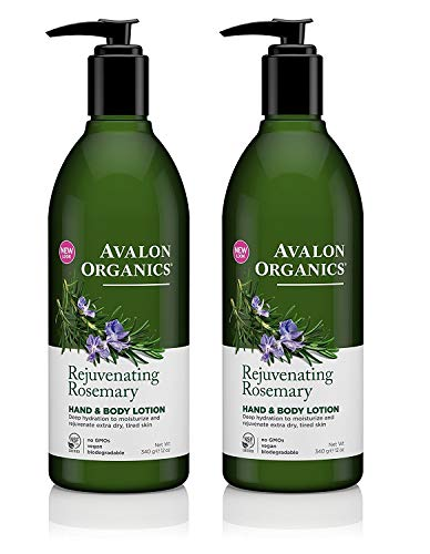 Avalon Organics Hand And Body Lotion Rosemary - 12 Fl oz (Pack of 2)