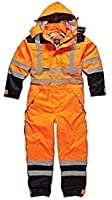 Dickies Recovery Coverall Overall Boiler Suit Auto Repair Garage Security Hi Vis Padded Heavy Duty Hard Wearing With Hood Quilted Lining Leg Zip Warm Multi Chest Pockets Tunnel Suit Storm Cuffs SA7000