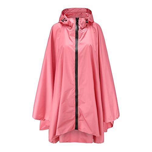 - Anyoo Waterproof Rain Poncho Lightweight Reusable Hiking Hooded Coat Jacket for Outdoor Activities