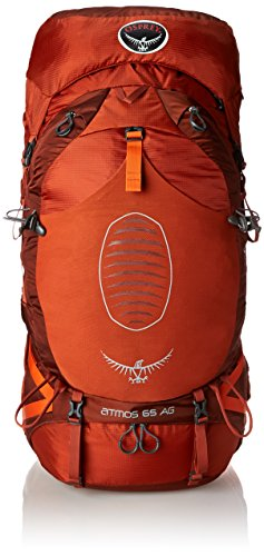 Osprey Men's Atmos AG 65 Backpack, Cinnabar Red, Large