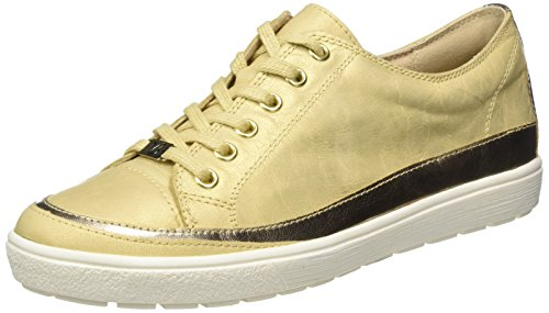 Low Met Sneakers Top 23654 Yellow Saffron Caprice Women's mu 7wvRqfgT