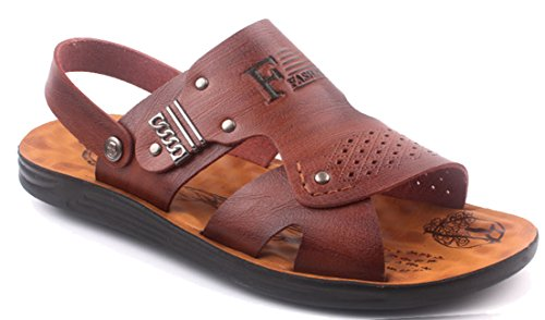 FEMAROLY Men's Spring and Summer Leather Open-Toe Sandals B07DMXYSN1 and Slippers B07DMXYSN1 Sandals Shoes 4b1a1a