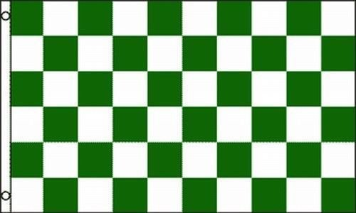 Green White Checkered Flag 3x5 ft Checker Checkerboard Pattern Banner Sign BEST Garden Outdor Decor polyester material FLAG PREMIUM Vivid Color and UV Fade Resistant