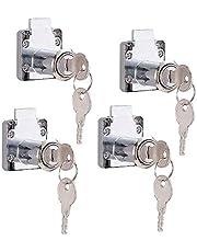 4 stuks kast lade slot, meubels slot cilinder, Cam Lock Security Cabinet Lock, voor deurkast brievenbus kast huishouden kantoor, met sleutels