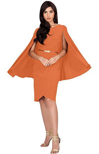 orange cape dress