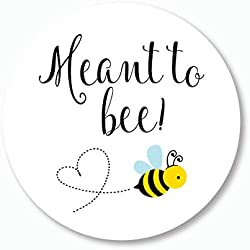 """120ct - 1"""" Meant To Bee Stickers, Meant to Be, Honey Wedding Favor Stickers (#377)"""