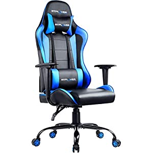 GTPLAYER Gaming Chair Office Desk Chair Swivel Heavy Duty Chair Ergonomic Design with Cushion and Reclining Back Support…
