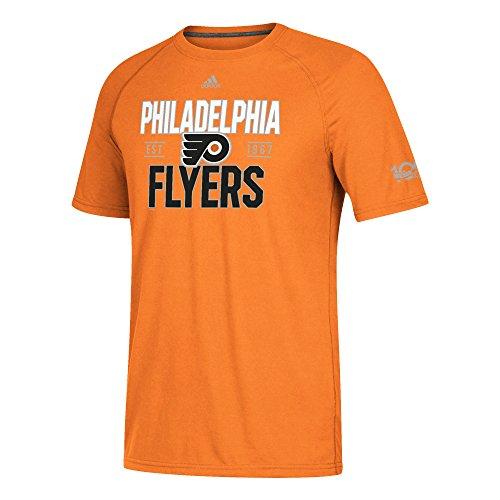 Philadelphia Flyers Mens T-shirts - adidas NHL Philadelphia Flyers Mens Centennial Convergence Ultimate S/Teecentennial Convergence Ultimate S/Tee, Orange, Large